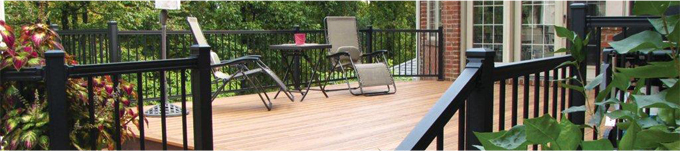 Deck with Aluminum Rail
