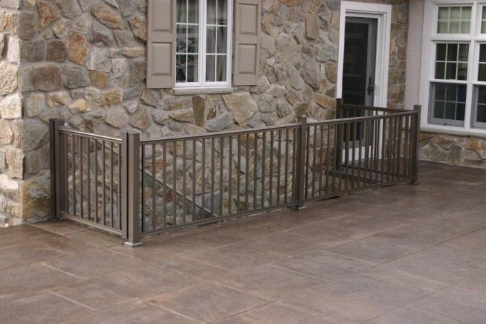 Square Bronze Aluminum Railing