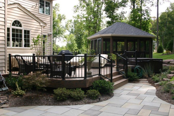 Aluminum Black Deck Railing