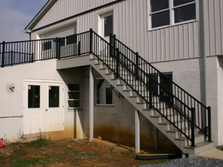 Raised Driveway and Stairs