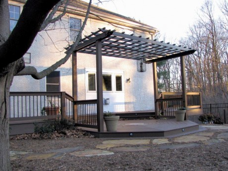 Aluminum Pergola With PVC Decking