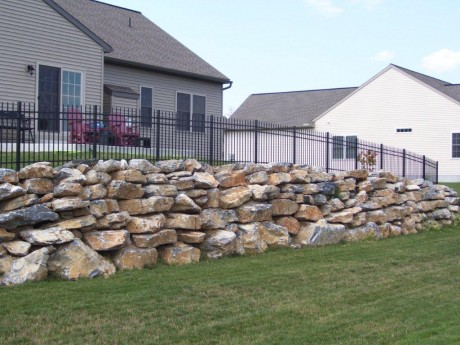 Retaining Wall and Fence