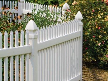 White Vinyl Garden Fence