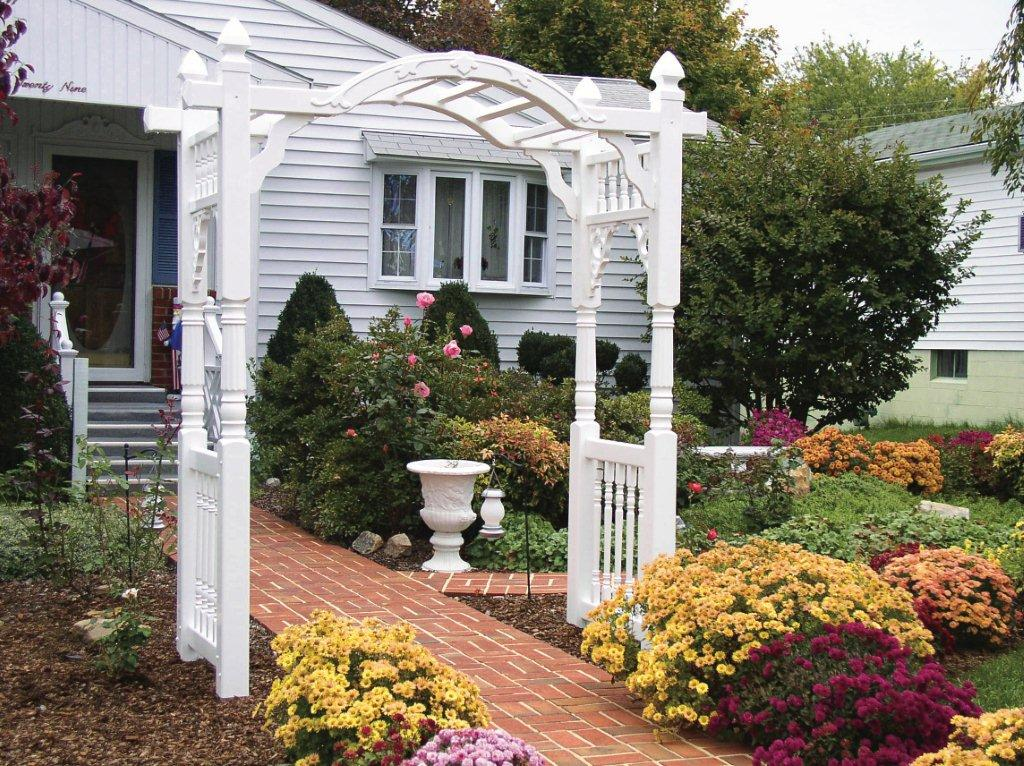 Embellish your landscape with the quintessential garden accessory: an arbor.  An arbor's beauty and serenity warmly invite you to relax and appreciate  your ... - Arbors & Pergolas - DutchwayDutchway