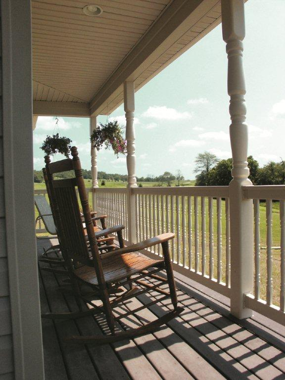 Porch With Vinyl Rail and Columns