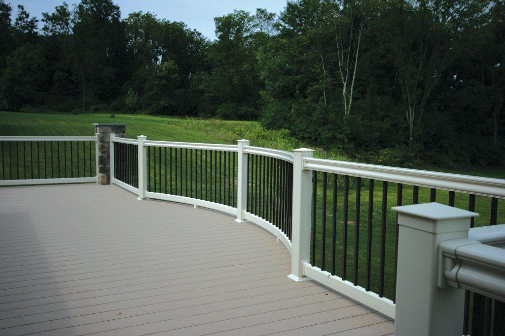 Pvc Decking With Hampton Railing Dutchwaydutchway