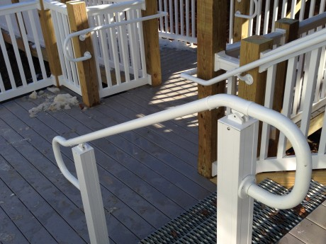 Commercial Railing and Handrail with Wolf Decking